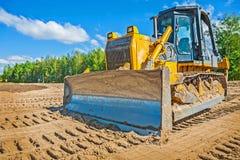 Buldozzer στην άμμο Στοκ Εικόνες