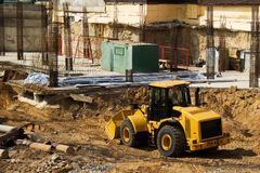 Buldozzer 1. A yellow buldozzer on a construction site Royalty Free Stock Photo