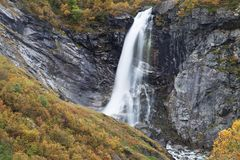 Buldrefossen vattenfall Arkivfoto