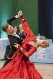 Buldyk Sergey and Raiko Alena Perform Adult Show Case Dance Show During the National Championship Stock Photography