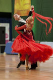 Buldyk Sergey and Raiko Alena Perform Adult Show Case Dance Show During the National Championship Royalty Free Stock Photo