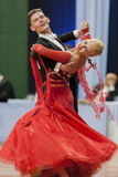Buldyk Sergey and Raiko Alena Perform Adult Show Case Dance Show During the National Championship Royalty Free Stock Images