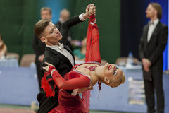 Buldyk Sergey and Raiko Alena Perform Adult Show Case Dance Show During the National Championship Stock Photos