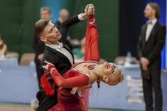 Buldyk Sergey und Tanz-Show Raiko Alena Perform Adult Show Case während der nationalen Meisterschaft stockfotos