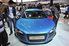 Bule audi r8 china edition front Royalty Free Stock Photo