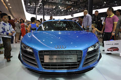 Bule audi r8 china edition front Royalty Free Stock Images