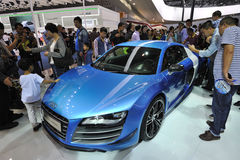 Bule audi r8 china edition Royalty Free Stock Image