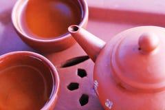Bule chinês com xícara de chá Imagem de Stock Royalty Free
