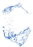 Bule dégagent l'éclaboussure de l'eau à l'arrière-plan blanc d'isolement Image stock