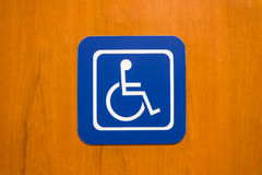 Bule disabled person sign Royalty Free Stock Photo