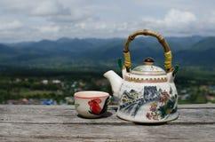 Bule e xícara de chá chineses Fotos de Stock Royalty Free