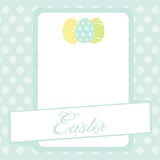 Bule Easter banner background with eggs Royalty Free Stock Photography