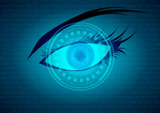 Bule eye future technology Stock Photos