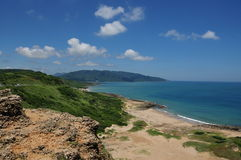 Bule ocean and sky in Kenting ,Taiwan Royalty Free Stock Photography
