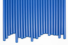 Bule straws Royalty Free Stock Images
