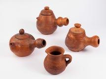 Bules e jarro do produto de cerâmica fotografia de stock royalty free