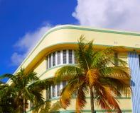 Bulevar Art Deco Florida del océano de Miami Beach foto de archivo libre de regalías