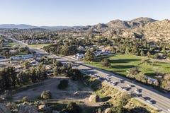 Bulevar da garganta de Topanga em Los Angeles Fotografia de Stock Royalty Free