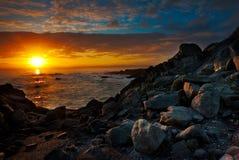 Bulevar da opinião de oceano de Monterey em Imagem de Stock Royalty Free