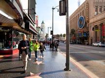 Bulevar de Hollywood imágenes de archivo libres de regalías