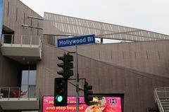 Bulevar de Hollywood Fotografia de Stock