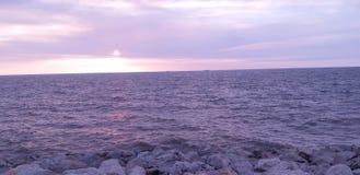 Bulevar de la puesta del sol imagenes de archivo