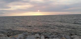 Bulevar de la puesta del sol fotografía de archivo libre de regalías