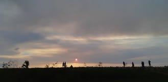 Bulevar de la puesta del sol fotografía de archivo