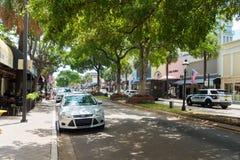 Bulevar de los Olas de Las en el Fort Lauderdale en la Florida Foto de archivo libre de regalías