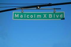 Bulevar de Malcolm X foto de archivo