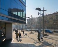 Bulevar de Novinskiy en primavera Imágenes de archivo libres de regalías