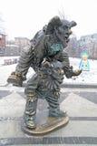 Bulevar de Tsvetnoy Palhaços da escultura fotos de stock