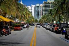 Bulevar del océano en Miami Foto de archivo libre de regalías