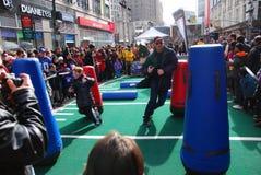 Bulevar do Super Bowl - New York City Fotos de Stock Royalty Free
