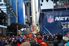 Bulevar do Super Bowl - New York City Foto de Stock