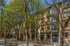 Bulevar em Pamplona, Espanha fotografia de stock royalty free