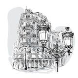 Bulevar en París Imagen de archivo libre de regalías