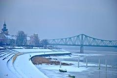 Bulevar en Polonia Foto de archivo libre de regalías