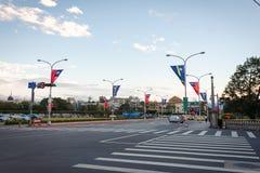 Bulevar kaitakelan de Taipei Fotos de Stock Royalty Free