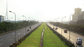Bulevar longo de Thang em Hanoi Foto de Stock
