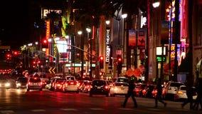 Bulevar Los Ángeles de Hollywood metrajes