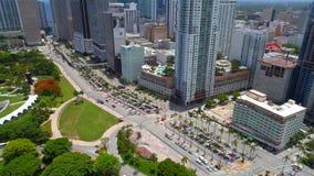 Bulevar Miami céntrica de Bicayne metrajes