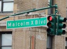 Bulevar NY de Malcolm X Imagen de archivo