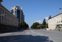 Bulevardi Deshmoret e Kombit w Tirana Obrazy Stock