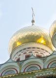 bulgária Cruzes e abóbadas do ouro Foto de Stock