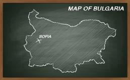 Bulgária no quadro-negro Fotos de Stock Royalty Free