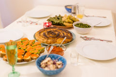 Bulgaars Kerstavondfeest Stock Foto