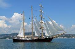 Bulgaars lang schip Kaliakra stock fotografie