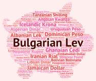 Bulgaars Lev Indicates Worldwide Trading And Bgn Royalty-vrije Stock Afbeelding
