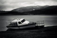 Bulgaars zwart-wit landschap stock afbeeldingen